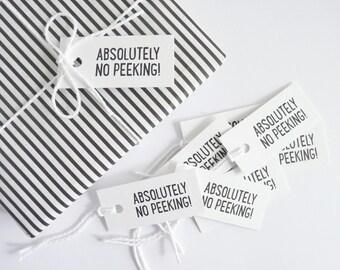 No Peeking – Letterpress Gift Tags