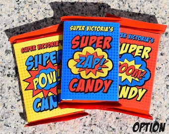 Superhero Candy Wrappers • KitKat • PRINTED