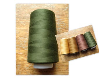 Sewing Thread Green 5000 yards Polyester Sewing Overlock Serger Cone Thread