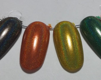 Winter Holodays Warm Holographic Nail Lacquer Set Six Indie 15mL Starlight Polish