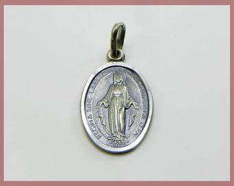 Coin with the Virgin Immaculate - Sterling silver 925