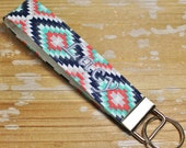 Personalized Aztec/Tribal Key Fob Wristlet - Name Key Chain
