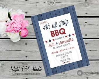 4th of july invite Etsy