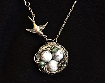 Custom Bird's Nest Necklace (Deposit)