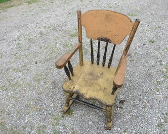 Old Paint Vintage Child's Rocker  Great Look