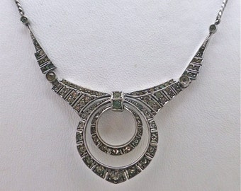 Art Deco Circular Paste Necklace