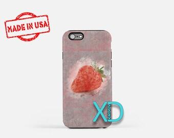 Strawberry iPhone Case, Fruit Art iPhone Case, Strawberry iPhone 8 Case, iPhone 6s Case, iPhone 7 Case, Phone Case, iPhone X Case, SE Case