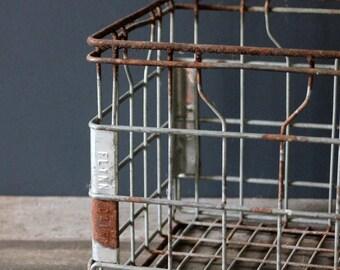 Vintage Wire Milk Crate