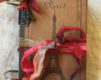 "Journal-Smash Book-Mini Journal-Paris-Travel-Trip-Journey-3.5"" X 5.5"""