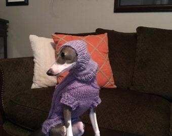 Italian Greyhound Hat Superwash Wool Standard Iggy Size