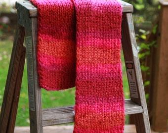 Orange Hot Pink Yarn Etsy