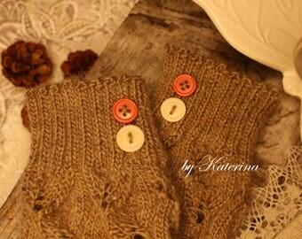 Knit leg warmers for Girl, Vintage leg warmers, Rustic leg warmers, Kids leg warmers, Leg warmers, Winter leg warmers, Lace leg warmers