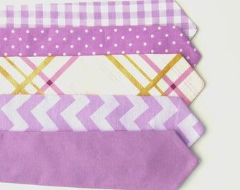 Baby Purple Neck Tie Lavender Baby Tie Purple Toddler Tie Purple Boy's Tie Purple Gingham, Purple Polka Dot, Solid Purple, Purple Plaid