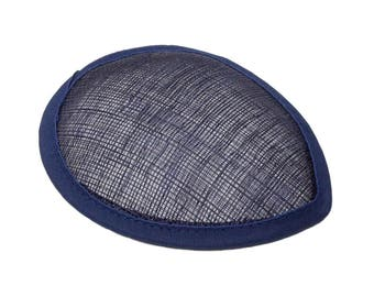 Navy Blue Sinamay Teardrop Fascinator Hat Base - Available in 16 Colors