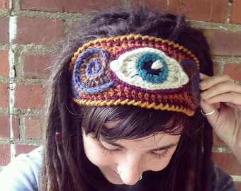 Third Eye Freeform Crochet Headband
