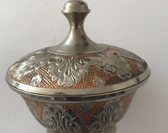Vintage Silver Plated Bowl with Lid