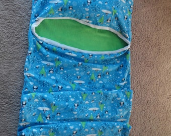 Flannel and Fleece Sleep Sack - Kids Christmas Blanket - Adult Theme Birthday Gift - Couch Youth Quilt - Teenage Sleep Pillow - Kids Nap Mat