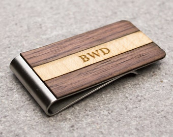 money clip, groomsman gift, custom engraved, wooden money clip, engraved money clip, custom groom gift, gift for husband, wedding gift