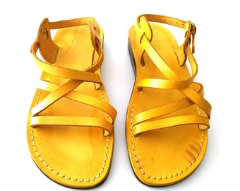 Leather Sandals, Leather Sandals Men Women, Sandals, Men's Women's Shoes, LONDON, Flip Flops, Biblical Sandals, Jesus Sandals Active