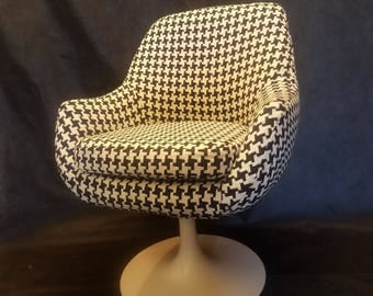 Vintage Overman, Knoll type pod chair to be done in fabric of your choice