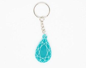 Blue Jewel Keychain