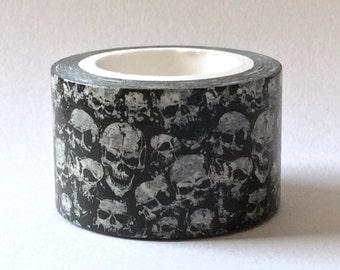 "SALE Wide Exclusive Print ""BoneYard"" Washi Tape by MechaKucha808  25mm x 10 Meters"
