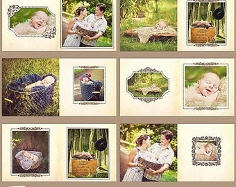 """ON SALE 10x10in Album/Photobook Templates for Adobe Photoshop, """"Classic Chic"""""""