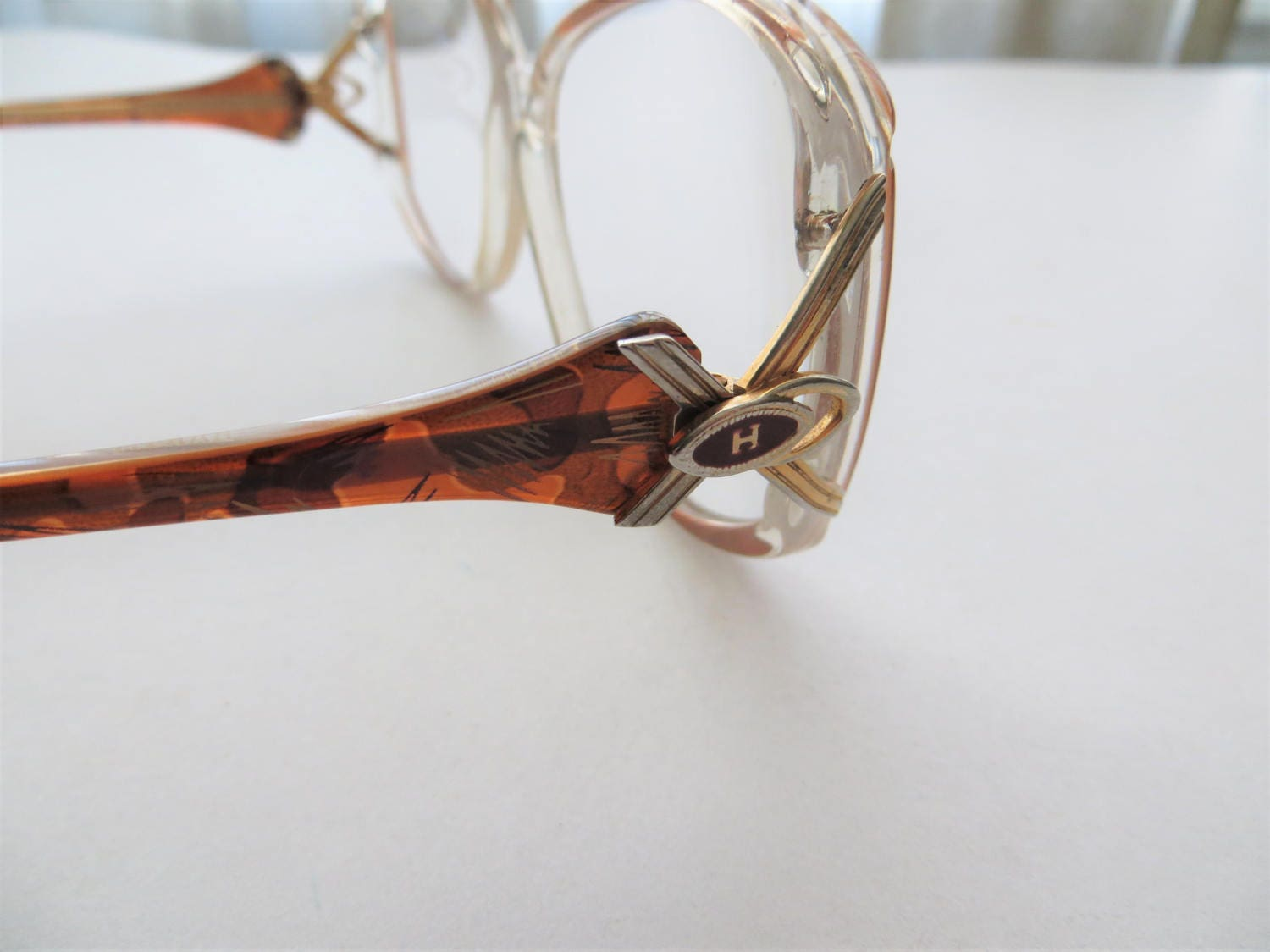 80s Hakim Exclusive Glasses Retro Abstract Brown Plastic Frames ...