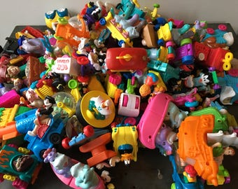 large vintage lot of fast food toys cars 88 pieces animaniacs tiny toons roger rabbit pinky and the brain