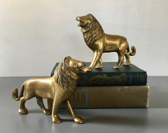 vintage brass lion figurine 2 available