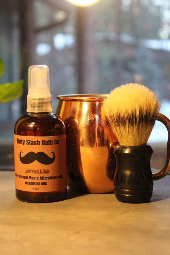Moscow Mule Mug Mens Shave Gift Set Organic Shave Soap Cedarwood & Sage essential oils
