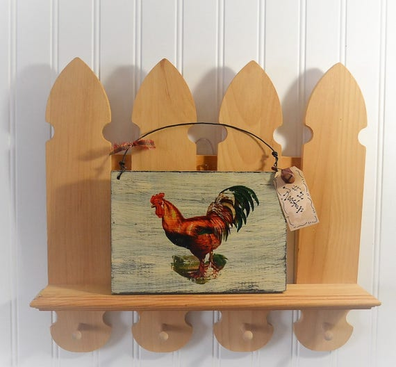 50 Farmhouse Style Gift Ideas From Etsy: Items Similar To Farmhouse Kitchen, Rustic Rooster Decor