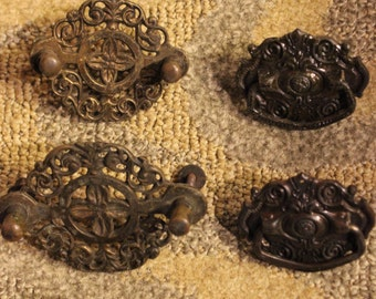Vintage Cabinet/ Chest Pulls | 7-Piece Set