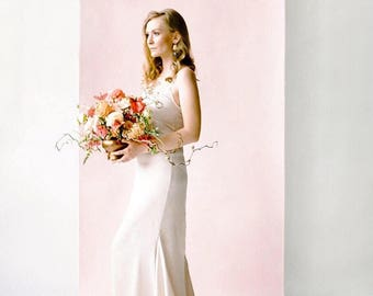 "Silk Wedding Gown, Ivory Silk Wedding Dress, Silk Wedding Dress, Simple Wedding Dress ""Ivory"""