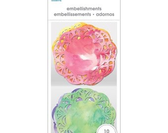 "Momenta 2"" Doily Embellishments Watercolor Valentines"