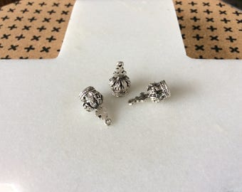 Antique Silver Crown Charms