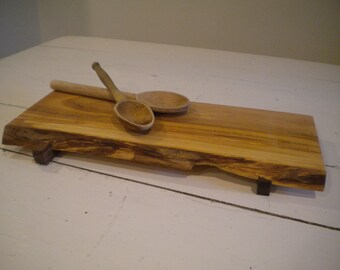 Maple cutting board,live edge, footed, serving tray, sushi board, cheese tray, live edged, spalted