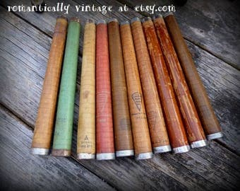 Antique, Wood, Bobbins, Spindles, Quilting, Spools, Primitive, Rustic, Yarn, Sewing