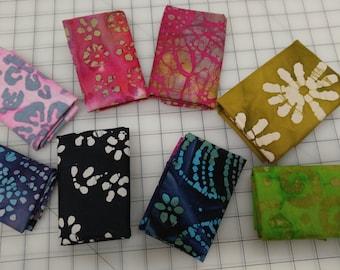 Batiks 8 Fat Quarter Bundle 100% Cotton by Marshall Dry Goods