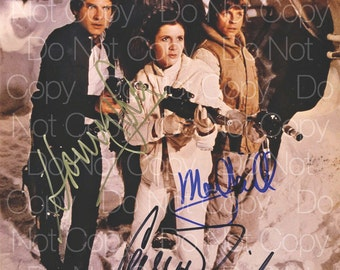 Star Wars Carrie Fisher signed Princess Leia Mayhew Chewbacca Ford Solo Mark Hamill Skywalker 8X10 photo picture poster autograph poster RP