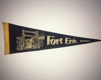 Vintage Fort Erie Canada Pennant