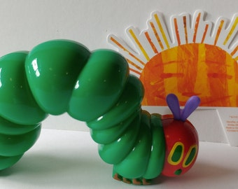 ERIC CARLE The Hungry Caterpillar Cake Topper birthday party favor library book toddler preschool first baby shower school cupcake rolls!