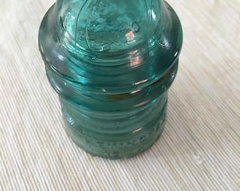 1890's Hemingray BEAUTIFUL blue glass insulator