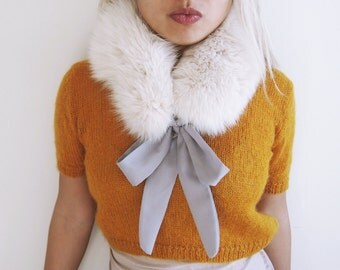 Fox Fur scarf neck warmer  hat Headband  Ear Warmer  earwarmer  ear muff