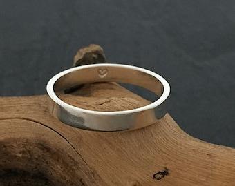 Men's Flat Secret Heart Ring