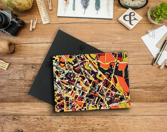 Abstract Map Print of Somerville MA