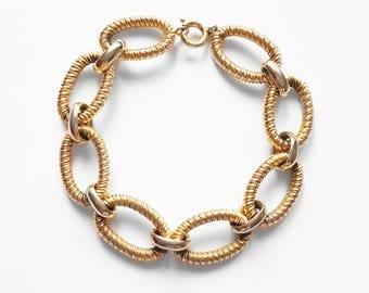 Vintage Gold Tone Chain Link Bracelet