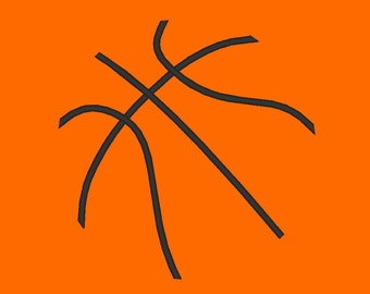 Basketball Lines Minimalist Embroidery Design