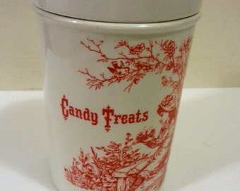 Ceramic Candy Treats Jar - Royal Crownford - Made in England