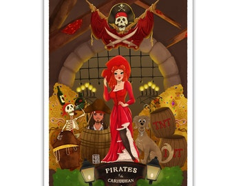 Pirates of the Caribbean Art Piece - Disney Themed Attraction Ride
